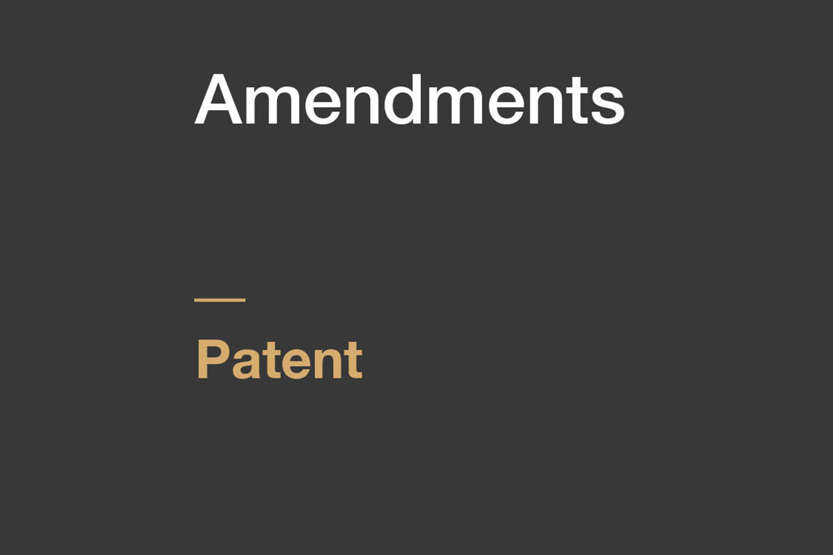 Patents 2nd Amendment Rules 2020