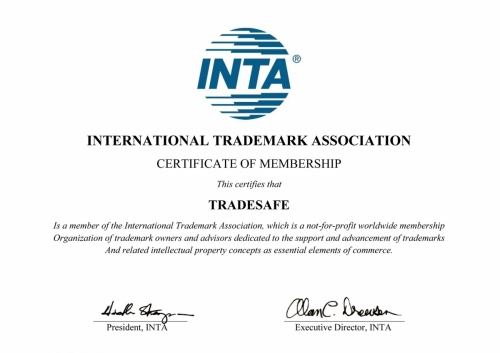INTA Certificate(International Trade Mark Association)